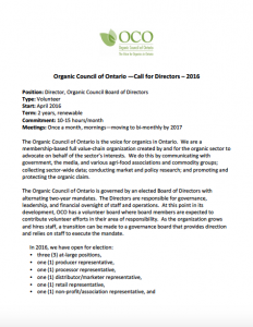 OCO Board Nominations 2016