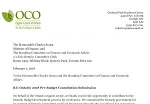OCO issues pre-budget submission to the Ontario government